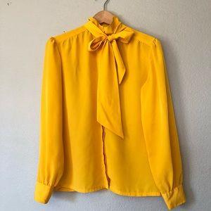 Pendleton Long Sleeves Blouse Women's 6 Marigold